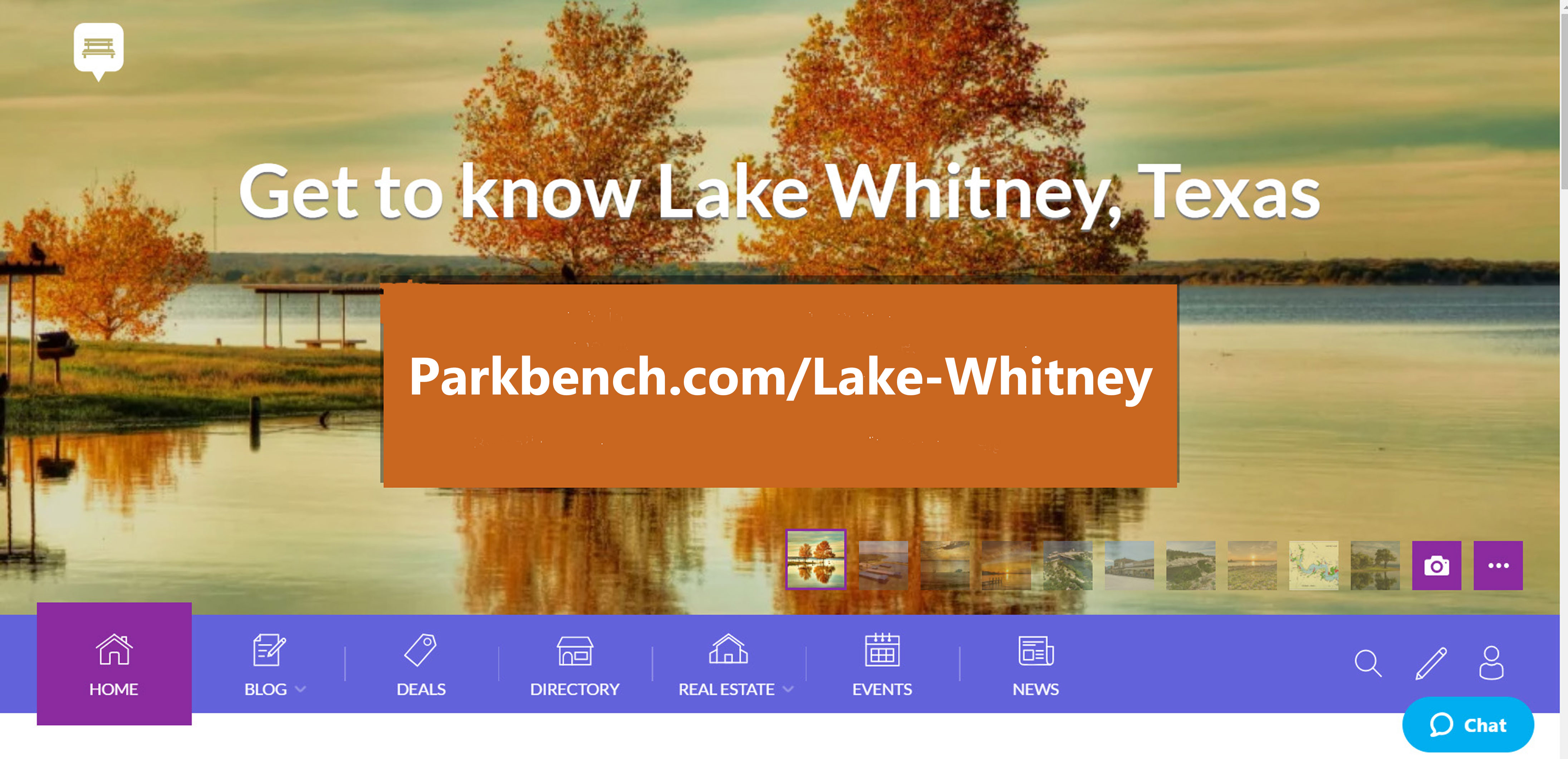 Community site for sharing events, businesses and news in Lake Whitney